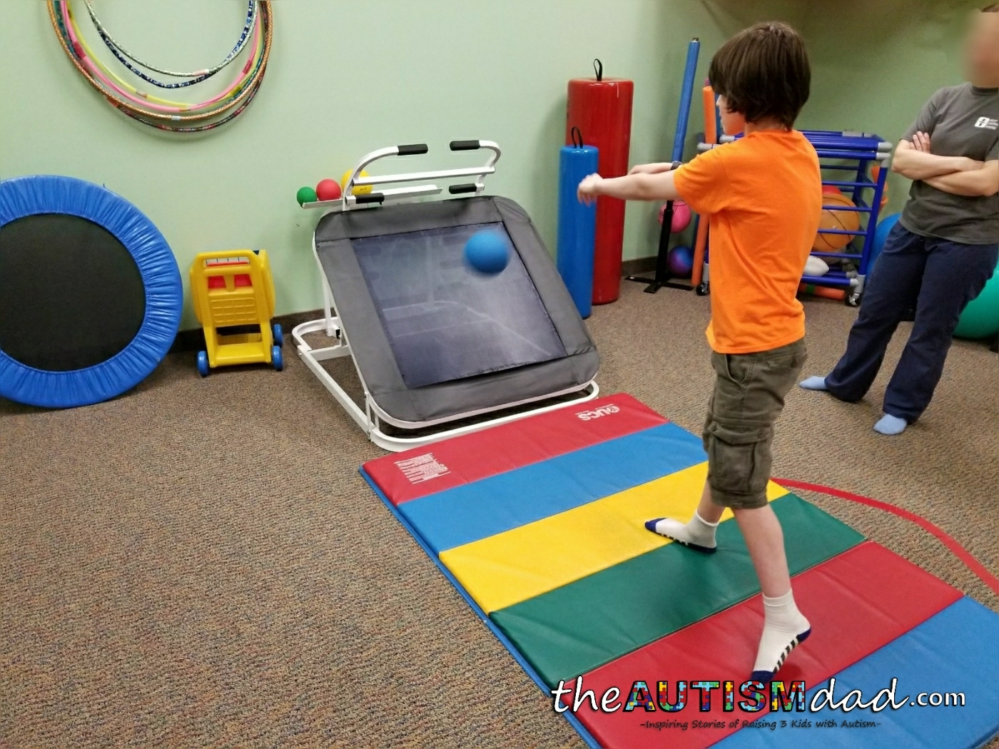 Pictures from Elliott's occupational therapy session