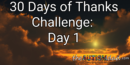 30 Days of Thanks Challenge: Day 1