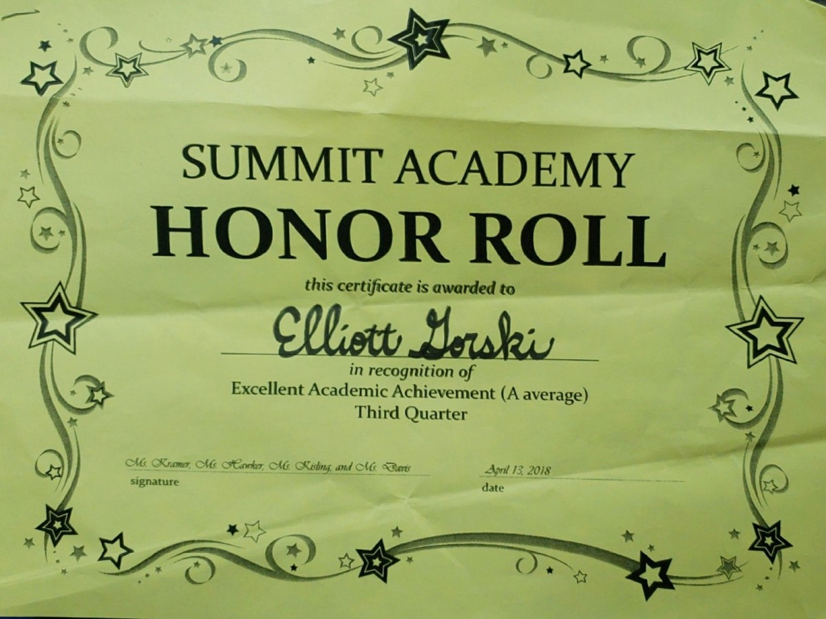 I'm so proud – Check out the awards my kids earned at school