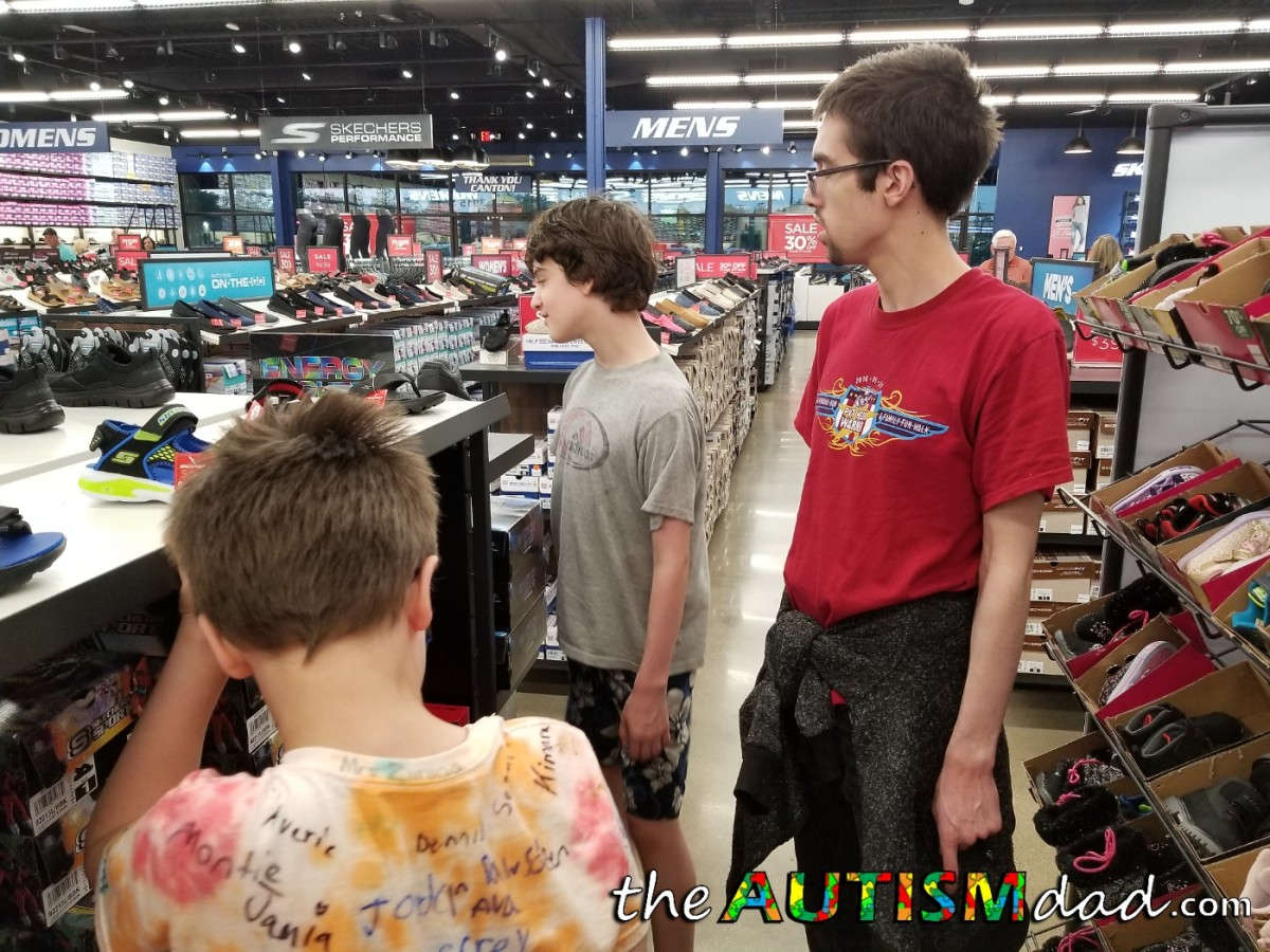 Do you know how much fun shoe shopping is for two kids with #Autism?