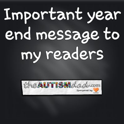 Important year end message to my readers