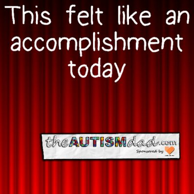 This felt like an accomplishment today