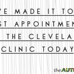 We've made it to our 1st appointment at the @ClevelandClinic today
