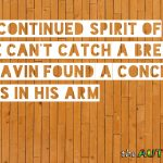 In the continued spirit of we can't catch a break, Gavin found a concerning mass in his arm