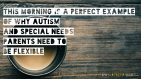 This morning is a perfect example of why #Autism and #SpecialNeeds parents need to be flexible