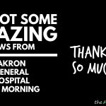 We got some amazing news from @myakrongeneral hospital this morning
