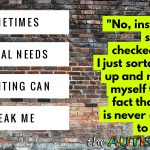 Sometimes #SpecialNeeds parenting can break me
